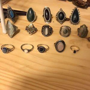 15 rings from forever21 Ring sets
